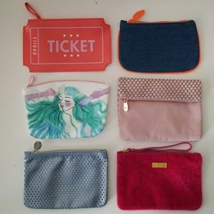 Handbags - Lot of 6 ipsy cosmetic bags